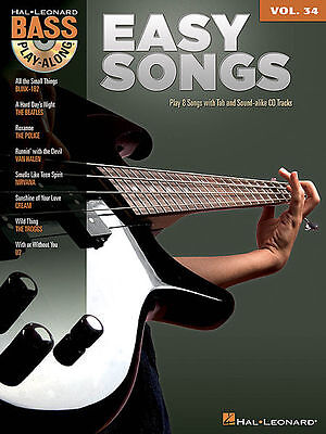 Easy Songs • E-Bass play along • Noten • mit play along Download