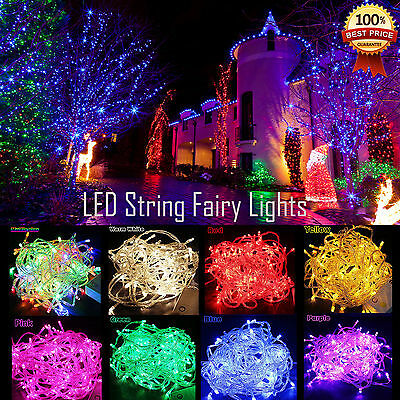 30M/50M/100M LED Fairy String Lights Christmas Party Wedding Garden Waterproof