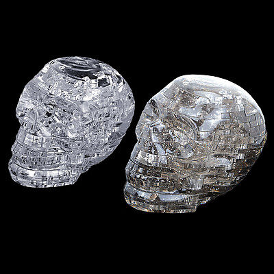 NEW 3D Crystal Puzzle DIY Jigsaw Assembly Model Gift Toy Skull Skeleton ZY