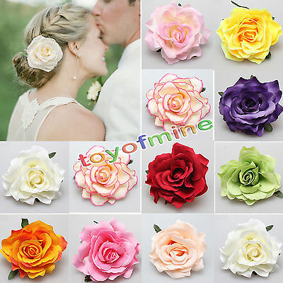 Fashion Woman Bridal Peony Rose Flower Hair Clip Hairpin Brooch Wedding Party