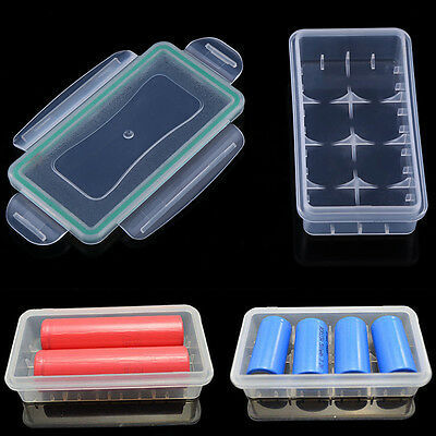 Waterproof Hard Plastic Battery Case Holder Storage Cover Box for 18650/123A