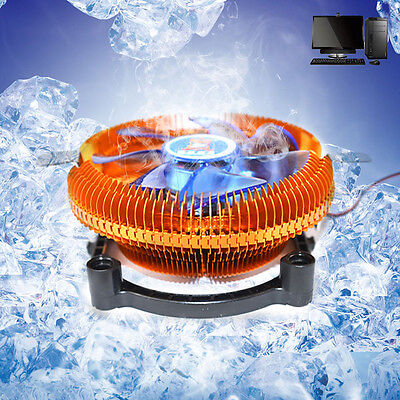 DC12V 4PIN Silent Cooling CPU Fan Heatsink Cooler Support Intel/AMD CPU With LED
