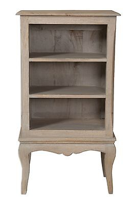 Loire French Grey Solid Mango Wood DVD/CD Unit / Small Bookcase