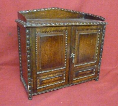 Antique Pipe Smokers Cabinet with Key