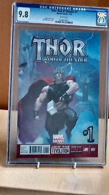 Thor God of Thunder #1 CGC 9.8 Aaron Ribic