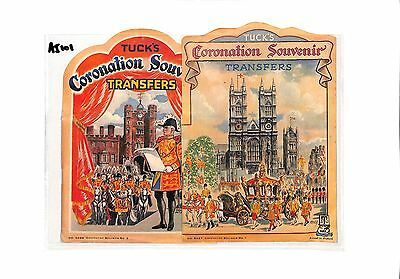 AI101 GB Tucks Coronation Souvenir Transfer Flags Cover with Contents x2