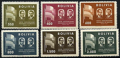 Bolivia 1960 SG#657-662 Mexican President Visit MNH Set #D35337