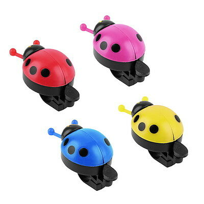 Lovely Kid Beetle Ladybug Ring Bell For Cycling Bicycle Bike Ride Horn Alarm ZY