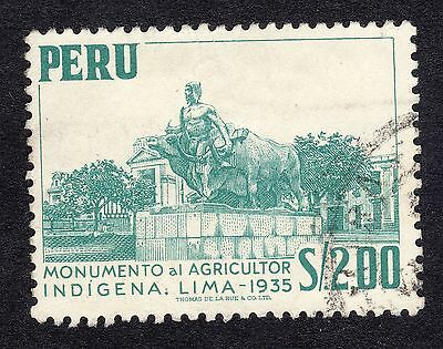 1952 Peru $2 Agriculture Monument SG 783 GOOD USED R18998