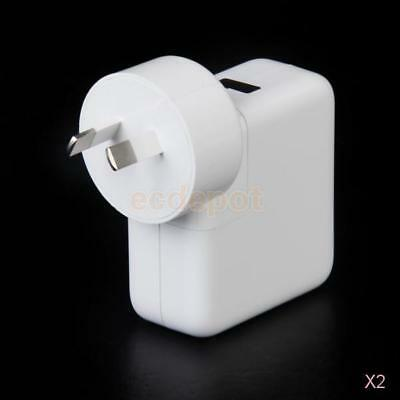 2x 4-USB Ports Wall AC Power Charger Adapter for iPhone Samsung PC AU Plug