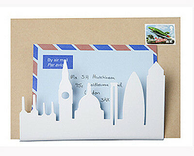 White London Skyline Letter Rack by Susan Bradley