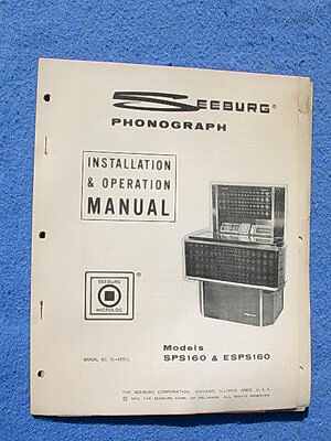 Seeburg SPS160 Olympian Installation & Operation Manual
