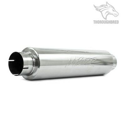 "MBRP Exhaust Muffler; Single 4""Center Inlet; Single 4"" Center Outlet M1004"