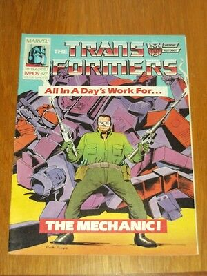 Transformers British Weekly #109 18Th April 1987 Marvel Uk Comic