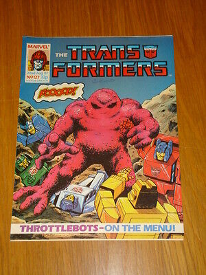 Transformers British Weekly #127 Marvel Uk Comic 1987