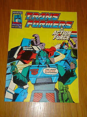 Transformers British Weekly #228 Marvel Uk Comic 1989
