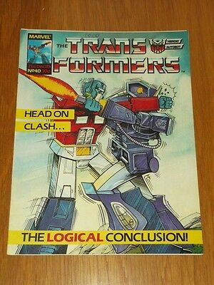 Transformers British Weekly #40 21St December 1985 Marvel Uk Comic