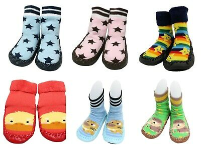 Discounted Baby Boy Girl Thick Non-slip Winter Slipper Socks Moccasins