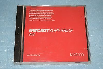 documentation technique CD Ducati SUPERBIKE 848 de 2009