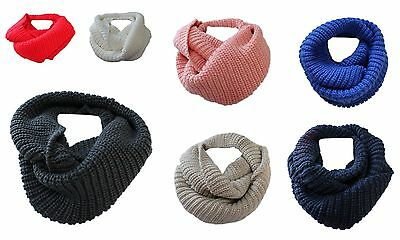 Boys Girls Winter Chunky Loop Scarf Neck Warmer Age 5 to 12
