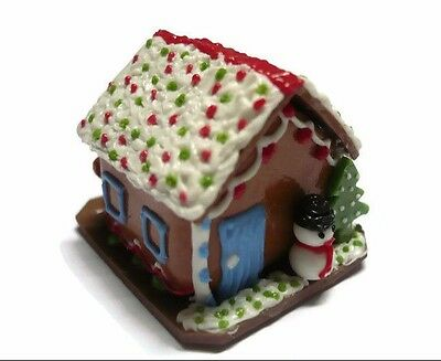 DOLLHOUSE MINIATURE CHRISTMAS GINGERBREAD HOUSE CANDY SWEET FOOD BAKERY HOLIDAY6