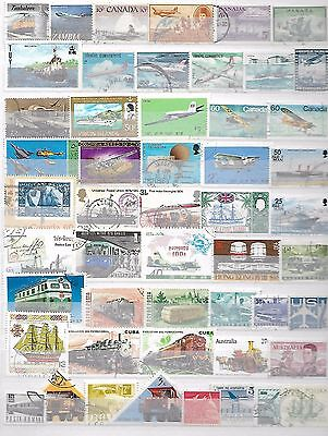 Transport Aeroplanes Trains Lorries Superior Thematic Topical Stamps 1021016