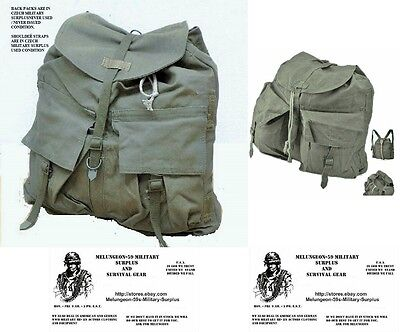 Vintage Czech Army Backpack Never Used Cond. -  SHOULDER STRAPS ARE USED COND.