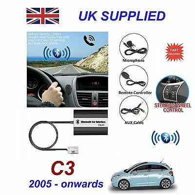 For Citroen C3 Bluetooth Hands Free Phone AUX Input MP3 USB Charger Module 12Pin
