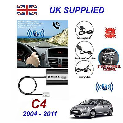 For Citroen C4 Bluetooth Hands Free Phone AUX Input MP3 USB Charger Module 12Pin