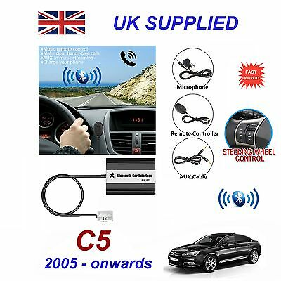 For Citroen C5 Bluetooth Hands Free Phone AUX Input MP3 USB Charger Module 12Pin