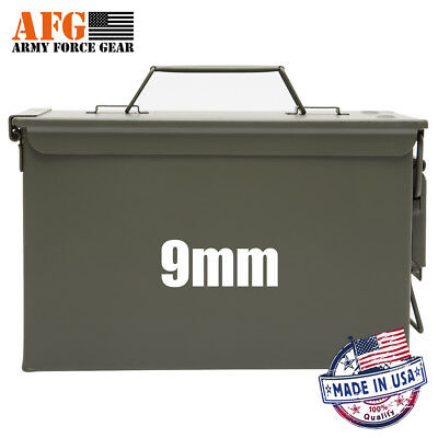 Army Force Gear 9mm Ammo can Decal 3 Pack,Ammo Can NOT Included ,White