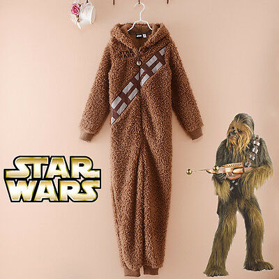 New Star Wars Chewbacca Pajamas Costume One-pieces Jumpsuit Hooded Sleepwear