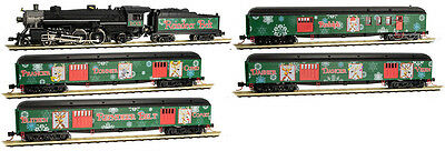 "Micro Trains N-Scale Reindeer Belt Christmas Train  Steam  Set ""new"""