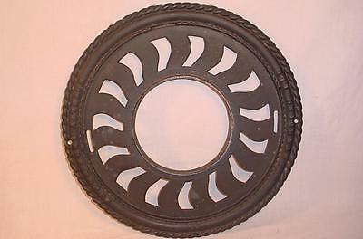 Antique Novelty Iron Works Cast Iron Stove Pipe Collar Floor Register Steampunk