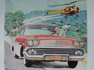Vintage Chevrolet Bel Air Sports Coupe Advert 1958
