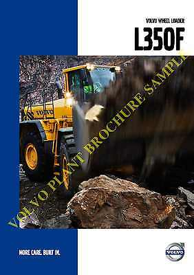 Volvo Wheel Loader L350F Brochure From 2007 28 Glossy Pages (C6)