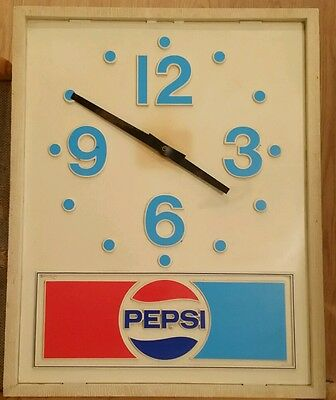 Vintage Lighted Electric Pepsi Clock Does NOT Work