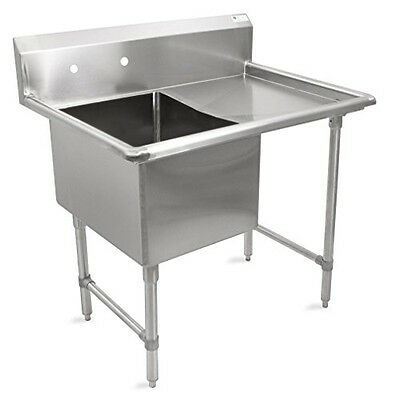 """John Boos B Series Stainless Steel Sink, 14"""" Deep Bowl, 1 Compartment, 24"""" Right"""