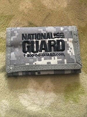 New U.s. National Guard Ucp Camo Pattern Embroydered Wallet