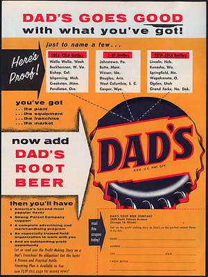 1950s Dad's Root Beer Trade Flyer