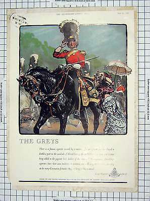 Old Antique Print Advertisement Greys Cigarettes Haig Scotch Whisky 158RG228