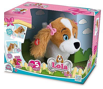 Lola the Dog Puppy Soft Plush Interactive Toy Teddy - Responds To 5 Commands