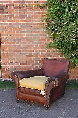 Vintage Large (Unusual) Leather Club Chair • £340.00