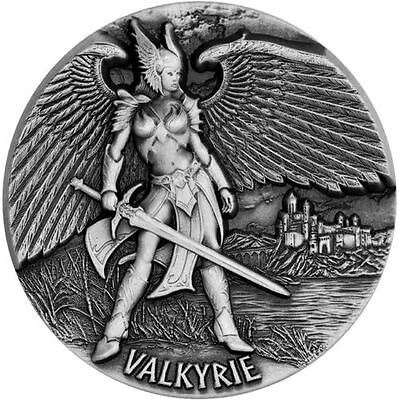 2016 $10 Legends Of Asgard Valkyrie 3oz Max Relief Silver Coin