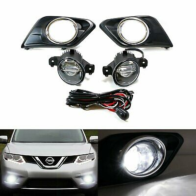 15W CREE LED Projector Fog Lights w/Bezel Covers, Wiring For 14-up Nissan Rogue