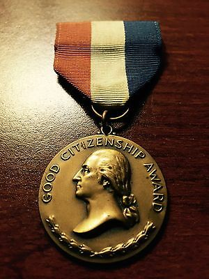 Good Citizenship Medal - inscription -presented to Sue Howell by the D.A.R.