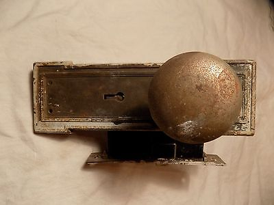 Antique Door Knob and Lockset / Brass