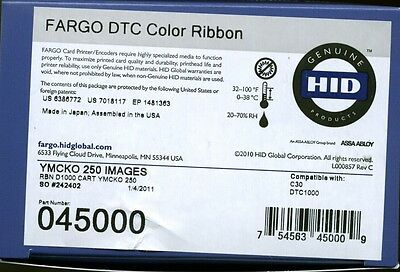 Fargo original YMCKO P/N 45000 ribbon cartridge for DTC1000 printer