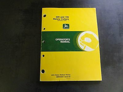 JOHN DEERE 609 and 709 Rotary Cutters Operator's Manual OMW40647 Issue E0