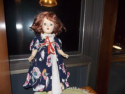 Ideal Toni Doll P 91 Redhead Strung Handmade Gown